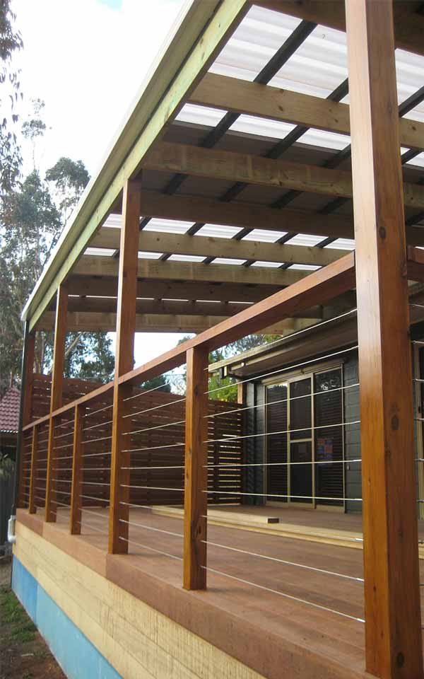 Mt evelyn extension deck carport cmj building for Carport deck